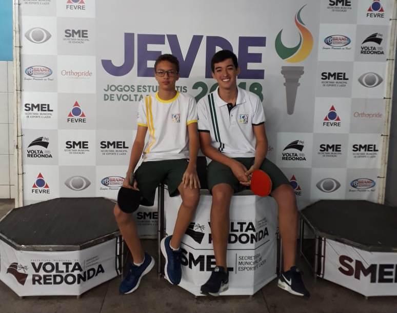 JEVRE/2018 - Medalha de Prata - Tênis de Mesa