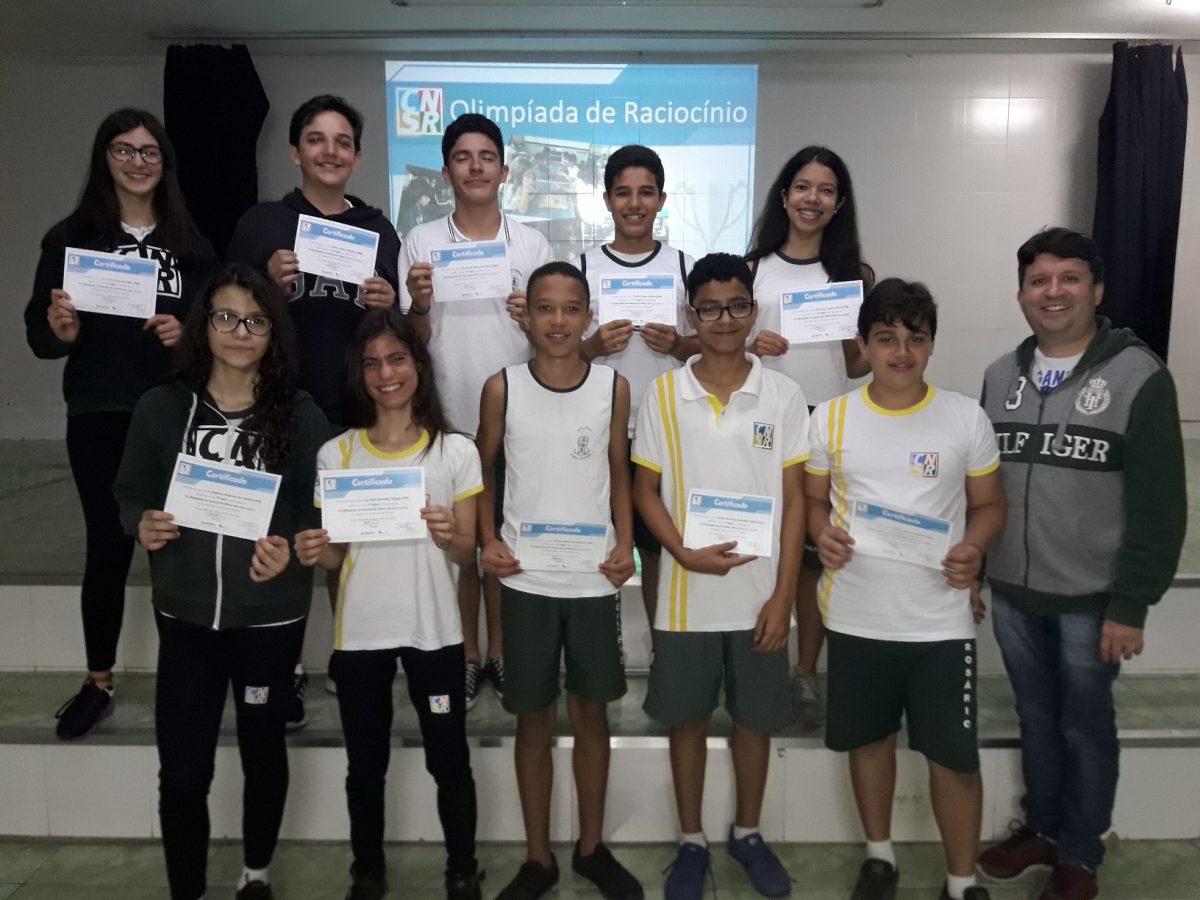Premiação da Olimpíada de Raciocínio - 7º e 8º Ano